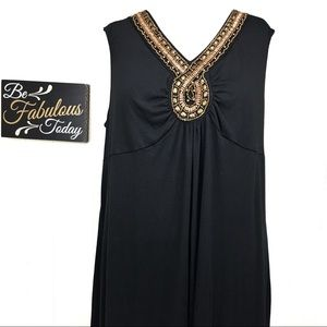 NWT Faded Glory Black Empire Waist Maxi 4X